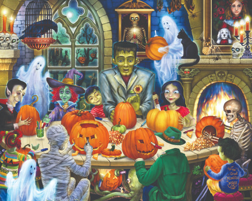 Haunted House Party - 1000pc Jigsaw Puzzle by Vermont Christmas Company