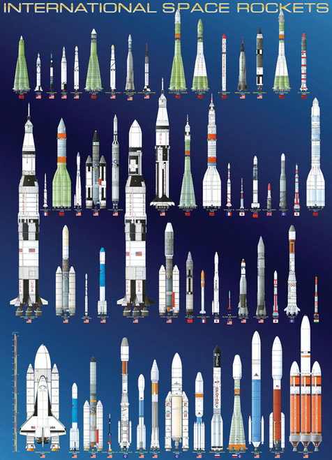 Eurographics Jigsaw Puzzles - International Space Rockets