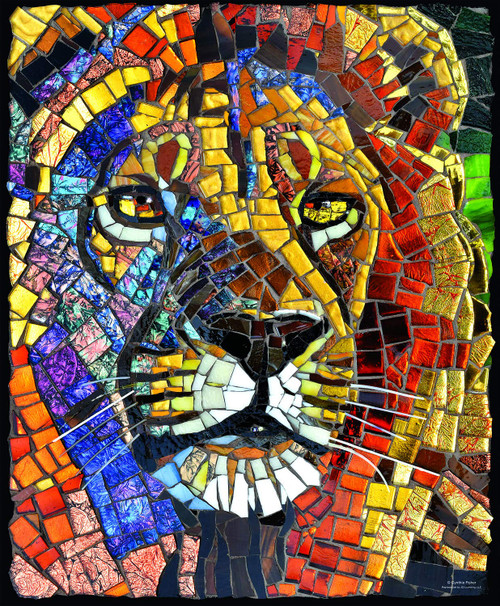 Stained Glass Lion - 1000pc Jigsaw Puzzle By Sunsout