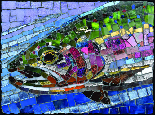 Stained Glass Rainbow Trout - 1000pc Jigsaw Puzzle By Sunsout