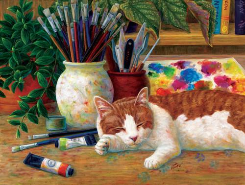 Painter's Helper - 500pc Jigsaw Puzzle By Sunsout