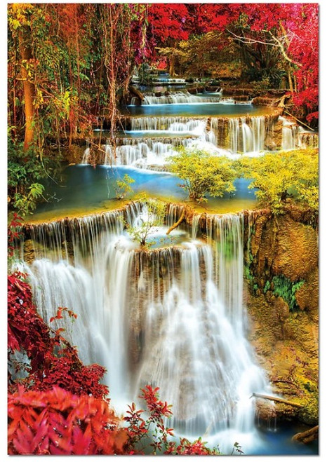 Waterfall in Deep Forest - 1000pc Jigsaw Puzzle by Educa