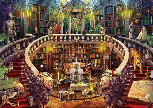 Enigmatic: Antique Library - 500pc Mystery Jigsaw Puzzle by Educa