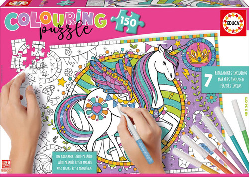 Unicorn - 150pc Coloring Jigsaw Puzzle by Educa
