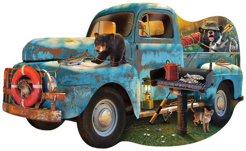 The Blue Truck - 1000pc Shaped Jigsaw Puzzle By Sunsout