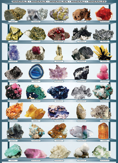 Eurographics Jigsaw Puzzles - Minerals