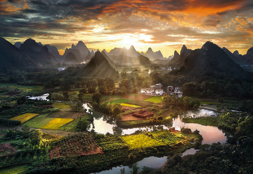 View of China - 2000pc Jigsaw Puzzle by Clementoni