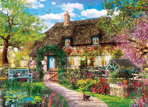 The Old Cottage - 1000pc Jigsaw Puzzle by Clementoni