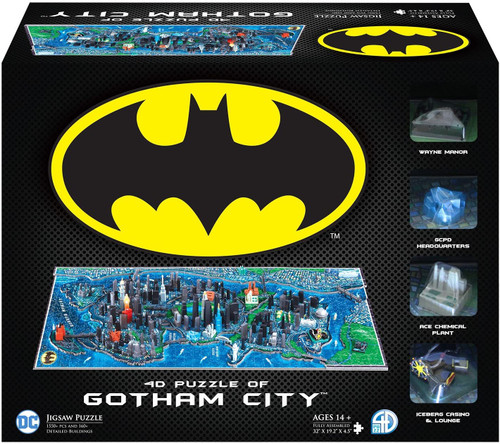 4D Batman Gotham City - 1200+pc 3D Jigsaw Puzzle