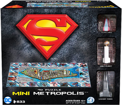 4D Mini Superman Metropolis - 833pc 3D Jigsaw Puzzle