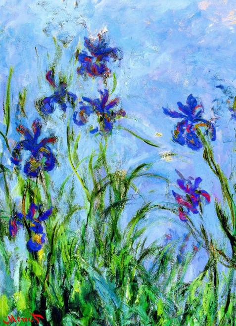 Monet: Irises - 1000pc Jigsaw Puzzle by Eurographics