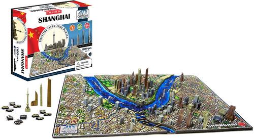 Shanghai, China - 1100pc 4D Cityscape Educational Jigsaw Puzzle