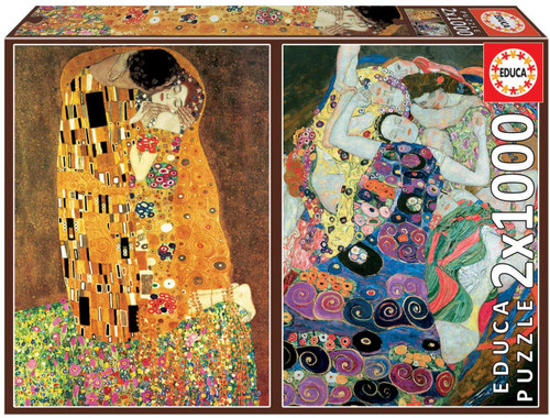 Klimt - 1000pc Multipack Jigsaw Puzzle by Educa