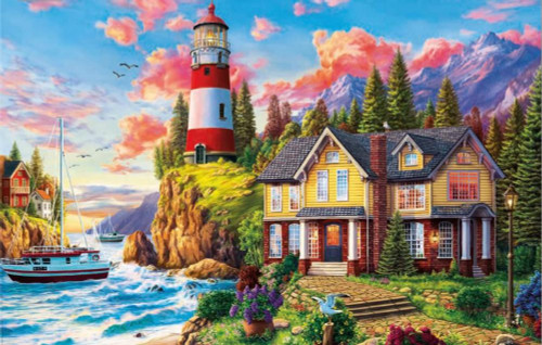 Lighthouse near the Ocean - 3000pc Jigsaw Puzzle By Educa