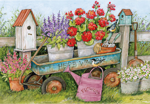 Susan Winget: Blue Wagon - 1000pc Jigsaw Puzzle by Lang
