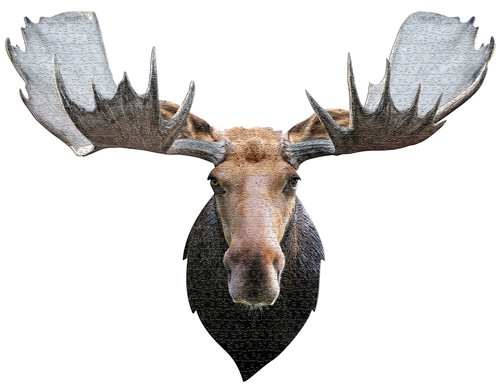 I AM MOOSE - 700pc Shaped Jigsaw Puzzle by Madd Capp