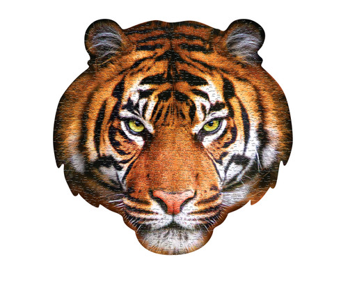 I AM TIGER - 550pc Shaped Jigsaw Puzzle by Madd Capp