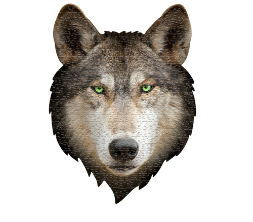 I AM WOLF - 550pc Shaped Jigsaw Puzzle by Madd Capp