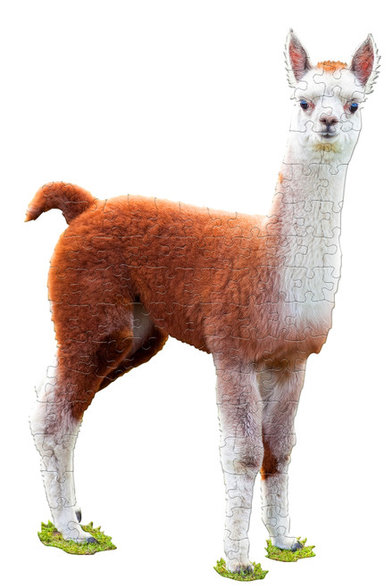I AM LIL LLAMA - 100pc Shaped Jigsaw Puzzle by Madd Capp