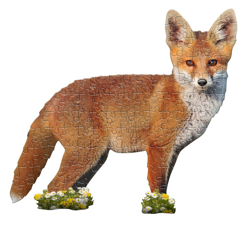 I AM LIL FOX - 100pc Shaped Jigsaw Puzzle by Madd Capp