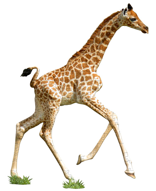 I AM LIL GIRAFFE - 100pc Shaped Jigsaw Puzzle by Madd Capp