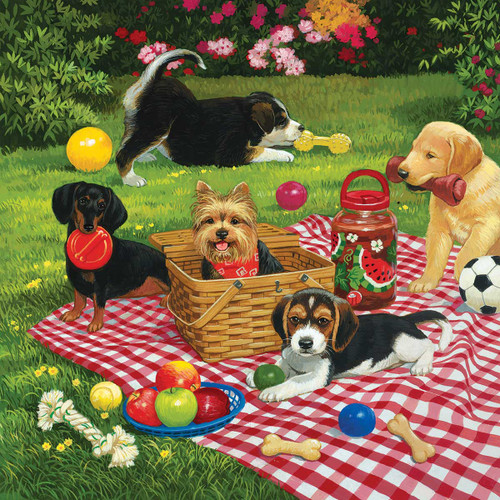 Puppies Take Over - 500pc Jigsaw Puzzle By Sunsout