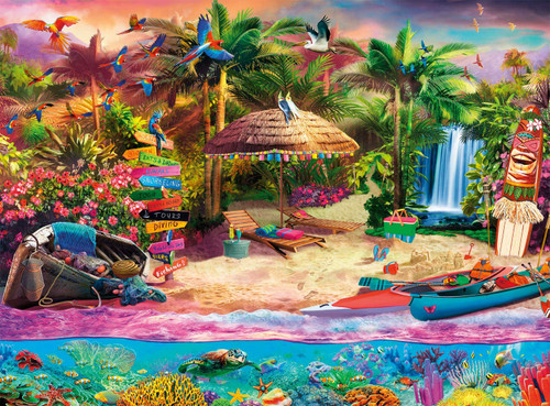 Tropical Island Holiday - 1000pc Jigsaw Puzzle by Buffalo Games