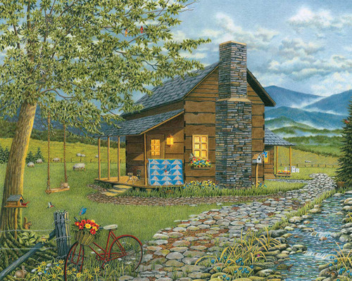 A Smoky Mountain Summer  - 1000pc Jigsaw Puzzle by Heritage Puzzle