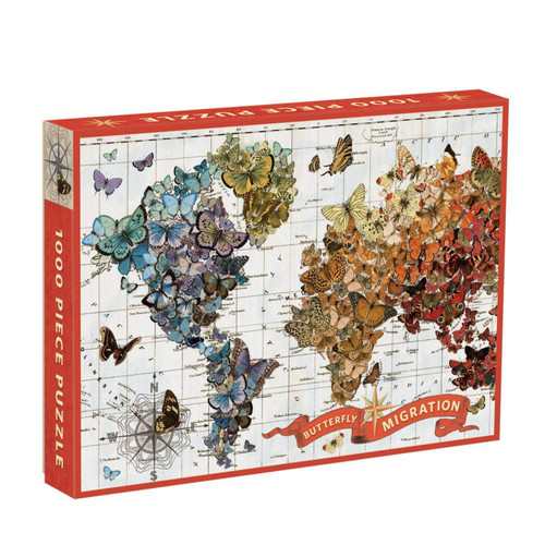 Wendy Gold Butterfly Migration - 1000pc Jigsaw Puzzle by Galison