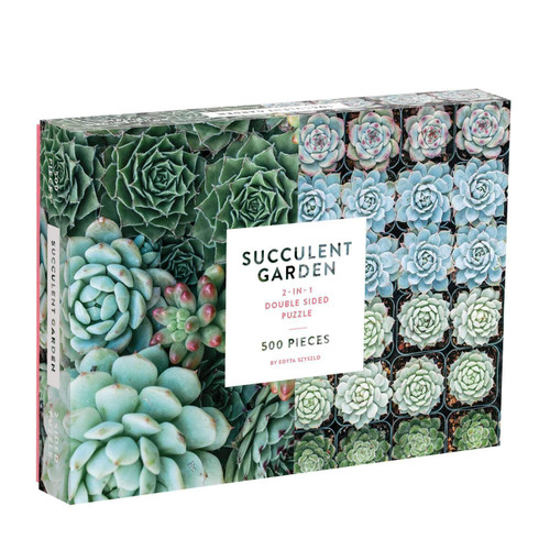 Succulent Garden - 500pc Double-Sided Jigsaw Puzzle by Galison