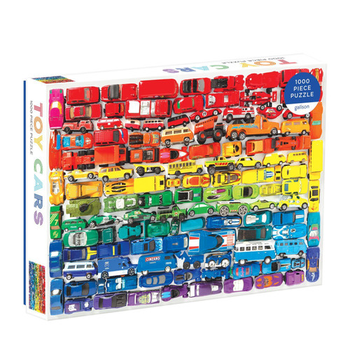 Rainbow Toy Cars - 1000pc Jigsaw Puzzle by Galison