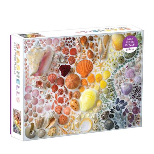 Rainbow Seashells - 2000pc Jigsaw Puzzle by Galison