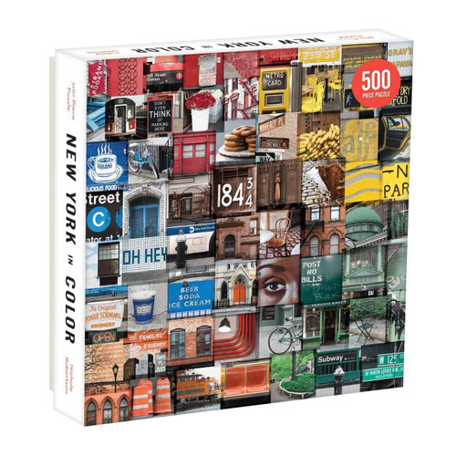 New York Color - 500pc Jigsaw Puzzle by Galison