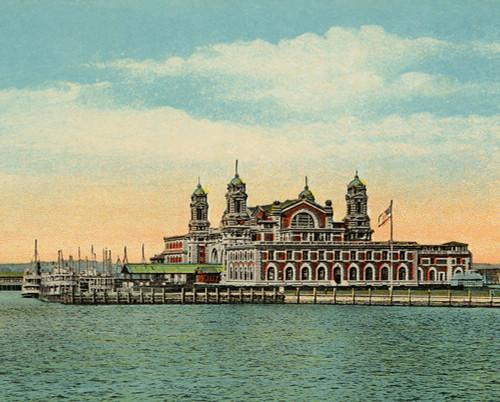 Ellis Island - 1000pc Jigsaw Puzzle by Pigment & Hue