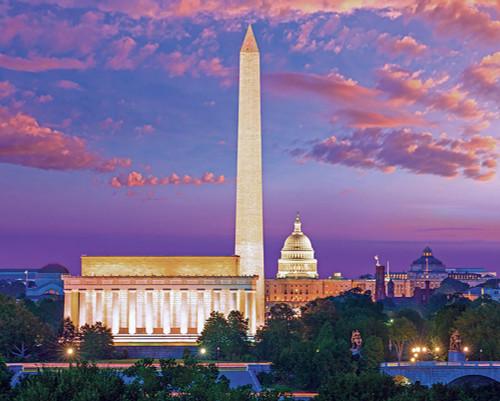 Washington, D.C. - 1000pc Jigsaw Puzzle by Pigment & Hue
