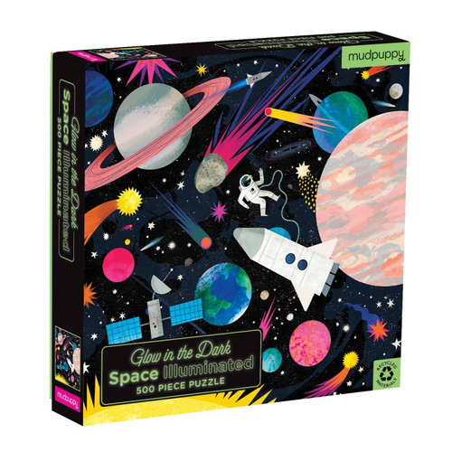 Space Illuminated - 500pc Glow in the Dark Jigsaw Puzzle by Galison