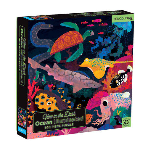 Ocean Illuminated - 500pc Glow in the Dark Jigsaw Puzzle by Galison