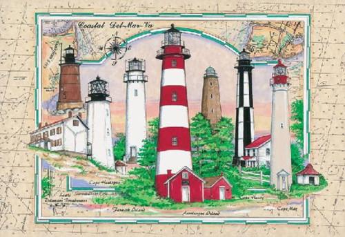 Coastal Del-Mar-Va / Elias - 1000pc Jigsaw Puzzle by Heritage Puzzle