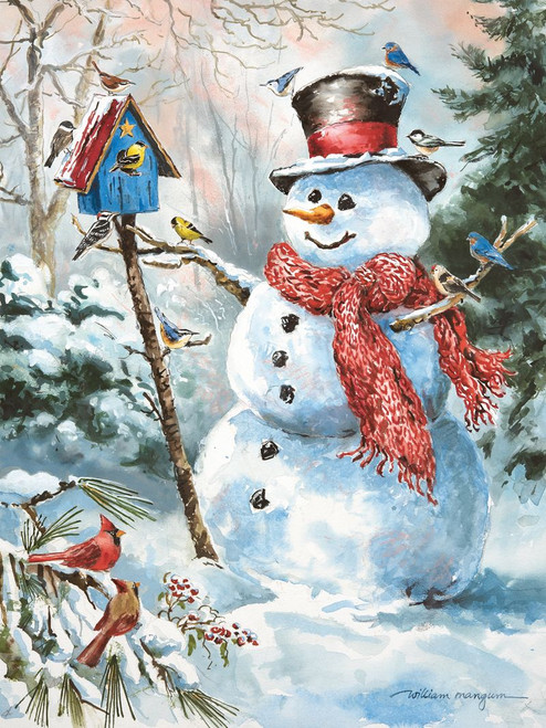 Frosty's Feathered Friends - 550pc Jigsaw Puzzle by Heritage Puzzle