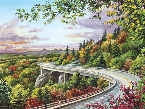 Majestic Byway / Mangum - 550pc Jigsaw Puzzle by Heritage Puzzle