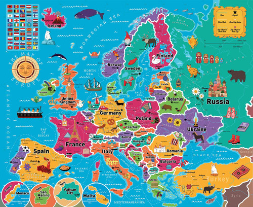 Map of Europe - 850pc Jigsaw Puzzle By Re-marks