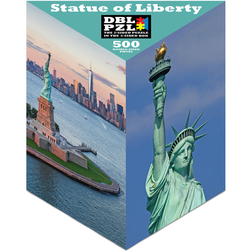 Statue of Liberty - 500pc Double-Sided Jigsaw Puzzle by Pigment & Hue