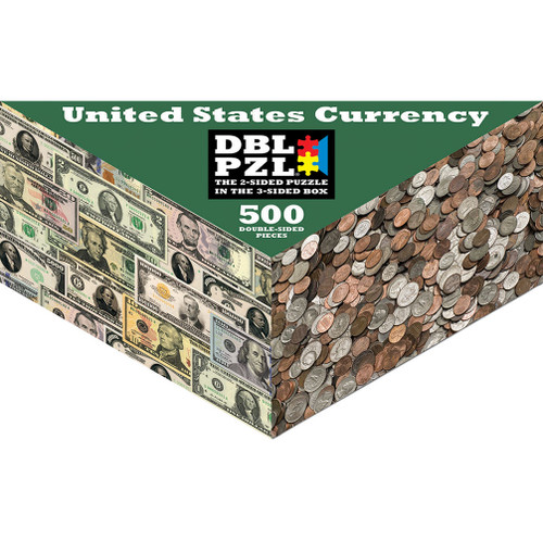 United States Currency - 500pc Double-Sided Jigsaw Puzzle by Pigment & Hue