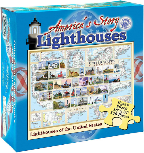 America's Story: Lighthouses of the United States - 550pc Jigsaw Puzzle by Channel Craft