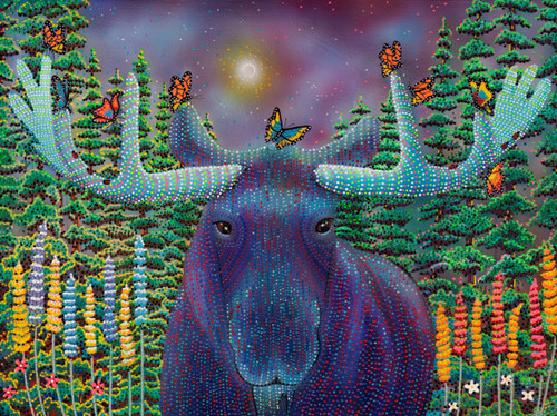 Conn: I Moose Be Dreaming - 750pc Jigsaw Puzzle By Standout Puzzles