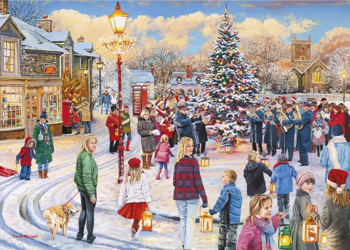 Christmas Chorus - 1000pc Jigsaw Puzzle by Gibson