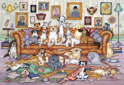 The Barker-Scratchits - 500pc Jigsaw Puzzle by Gibson