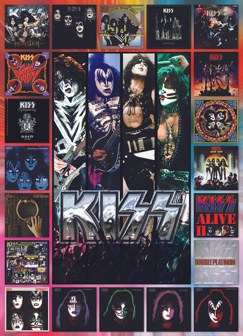 KISS The Albums - 1000pc Jigsaw Puzzle by Eurographics