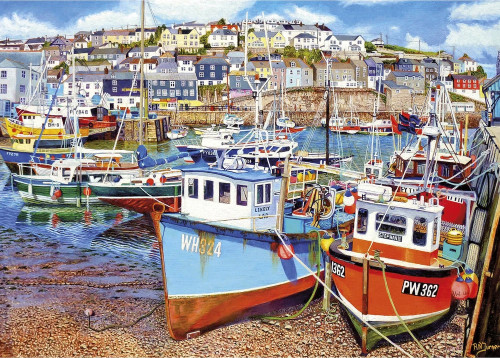 Mevagissey Harbour - 1000pc Jigsaw Puzzle by Gibson