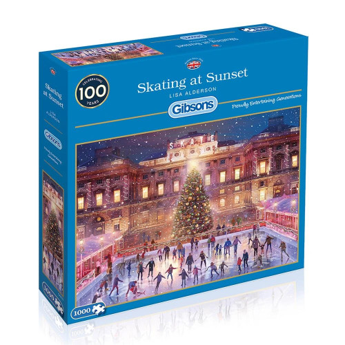 Skating at Sunset - 1000pc Jigsaw Puzzle by Gibson